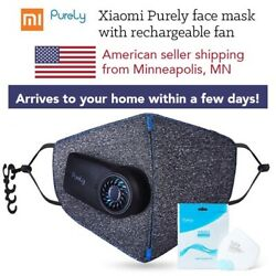 Xiaomi Purely Face Mask With Electronic Fan - Filtered Smart Mask - USA SELLER $46.50