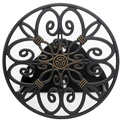 Liberty Garden 670 Hose Reel, Wall-mount, Antique Patina, Holds 125-ft. -