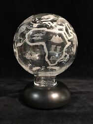 Waterford Times Square 127/2000 Star Of Hope Globe Seven Continents Rare