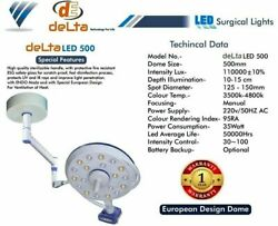 Led Lights Operation Theater Lamp Ceiling/ Wall Mount Euro Sterilizable Handle