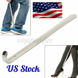 20in Extra Long Handle Shoe Horn Stainless Steel Handled Metal Shoehorn Lifter $8.49