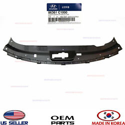 Genuine 15-17 Sonata Grille Upper Closing Plate Sight Shield Oem Radiator Cover
