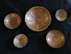 Artist Collection Hand Raised Copper Bowls Arts And Craft Signed M Dolby