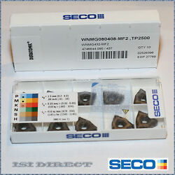 Authentic Wnmg 432 Mf2 Tp2500 Seco 10 Inserts 080408