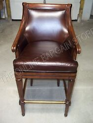 Frontgate Lonsdale Leather Counter Bar Barstool Stool Truffle Wood 1000 Chair