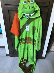 Nwt Fortnite Epic Games Unisex Size Large Rex Green Costume/pajamas/cosplay