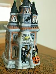 Blue Sky Clayworks Halloween Hotel Of Horrors Heather Goldminc Candle House Nwt
