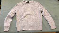 Lands End Womens Cable Sweater Lilac Lavender  MP 10-12 $12.99