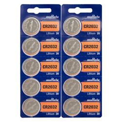 CR2032 MURATA LITHIUM COIN CELL BATTERY 10-PACK $6.45