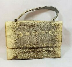 VINTAGE LADIES PURSE AUTHENTIC MONITOR LIZARD LEATHER SKIN