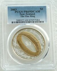 2003 New Zealand Lord Of The Rings One Ring 1 Silver Proof Coin Pcgs Pr69 Dcam