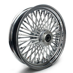 16 3.5 Chrome Single Disc Front Wheel Super Glide Fxdl Fxdwg Softail 2000-2007
