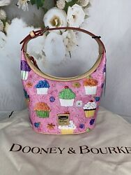 Dooney amp; Bourke Cupcakes Pink Bucket Bag Super Cute Authentic NWTS MSRP$188 $149.00
