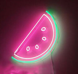 Watermelon Fresh Fruit Neon Sign Acrylic Light Lamp Gift Glass With Dimmer
