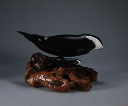 Bowhead Whale And Calf Sculpture By John Perry Painted New Direct From The Studio
