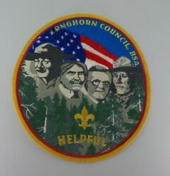 Large Longhorn Council Friends Of Scouting Mount Rushmore Helpful Patch Bsa