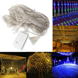 144 Leds Net Mesh Lights Fairy Light 8 Modes Party Wedding Xmas Decor Waterproof