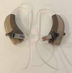 1 Pair - Widex Hearing Aids Dream 110 Fusion| Cros Transmitter And D-fs Warm Beige