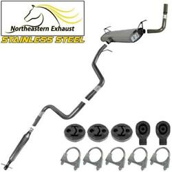 Stainless Steel Exhaust Kit With Hangers Fit 08-2012 Malibu 08-10 G6 08-09 Aura
