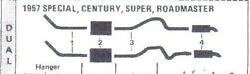 1953 Buick Super And Roadmaster Dual Exhaust System Aluminized