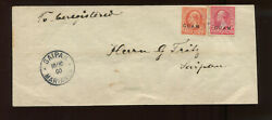 Guam Scott 2 And 11 Overprint Used Stamps On Nice Cover To Saipan Mariana Islands