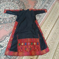 Antique Hand Made Embroidery Traditional Heritage Palestinian Dress الخليل