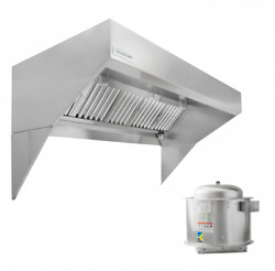 Hoodmart 10and039 X 48 Low Ceiling Sloped Front Exhaust Hood System