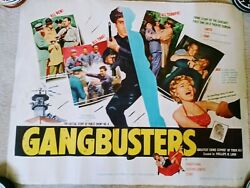 Gangbusters-movie Poster Original Gangster And Crime 1954-57 Circa