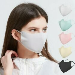 Ice Silk Cool Lightweight Fabric Breathable Reusable Washable Face Mask Covering $4.99