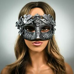 Silver Venetian Masquerade Masks for Men and Women Roman Cosplay Costume