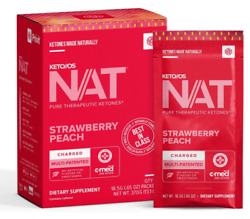 Pruvit Keto Os Nat Strawberry Peach Charged And Caffeine Free 5 10 And 20 Packs