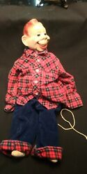 Vintage Ideal Toys Howdy Doody Ventriloquist Doll 1950's Antique Dummy