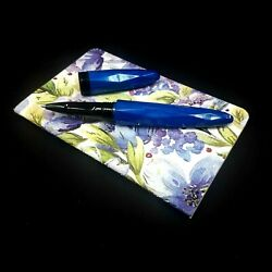 Benu Briolette Cobalt Rollerball Pen Unique Hand Made Mint In Box And Notebook A6