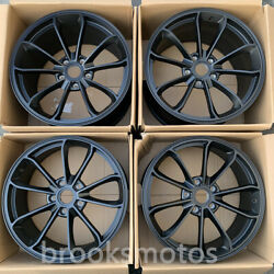 20 Staggered Style Black Metal Forged Wheels Rims Fit Porsche 911 20x8.5 20x11