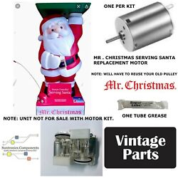 Mr. Christmas Serving Santa Replacement One New Motor Kitunit Not For Sale