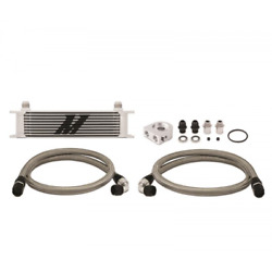 Mishimoto Mmoc-ut Universal Thermostatic 10 Row Oil Cooler Kit - Silver