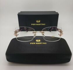 Pier Martino Fr942 C1 Womans Glasses W. Crystals 54-17-135 New W.case