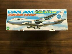 Vintage In Box Collectible 1980's Pan Am Boeing 747sp Jetn347sp Battery Powered