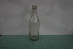 Old Clear Glass Ketchup, Catsup Bottle 8 ½ Inch With Metal Cap