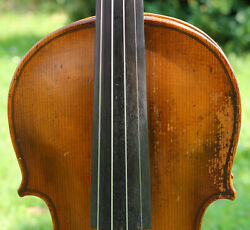 Old Antique Germany 19th Century Violin -listen To The Video Stainer Model.