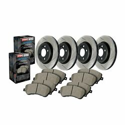 Stoptech For 11 Audi S5/10-11 S4 Disc Brake Pad And Rotor Front-rear Kit 934.33046