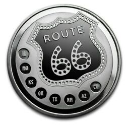 Limited Edition Route 66 .999 1oz Silver Round