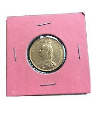 1892 L Queen Victoria Jubilee Head Gold Sovereign- Gold Coin