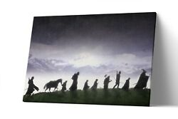 Fellowship Lord Of The Ring Canvas Print Lotr Wall Art Artwork Painting Poster
