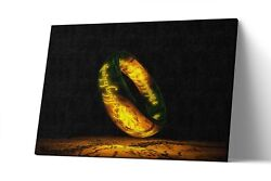 The One Ring Lord Of The Ring Canvas Print Lotr Wall Art Artwork Painting Poster