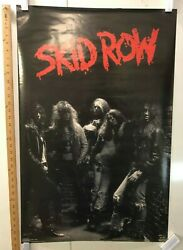 Vintage Music Poster Skid Row Sebastian Bach 1989 Funky Posters Weissguy