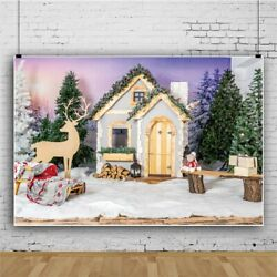 9x6ft Background Christmas Outdoor Setting Backdrop Photography Props Studio