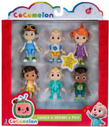 Cocomelon - Family And Friends - 6 Pack - 3-inch Figure Set - Youtube - New