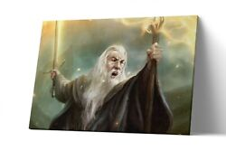 Gandalf Lord Of The Ring Canvas Print Lotr Wall Art Artwork Painting Poster