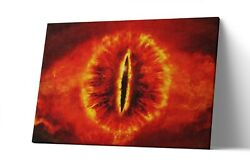 Sauron Eye Lord Of The Ring Canvas Print Lotr Wall Art Artwork Painting Poster